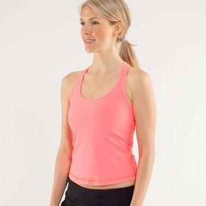 LULULEMON Cool Racerback Racing Length Flash Light